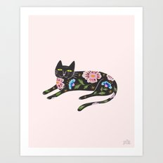Flower Kitty Art Print