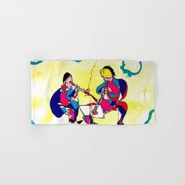 Chamalau and Clarinet              by Kay Lipton Hand & Bath Towel