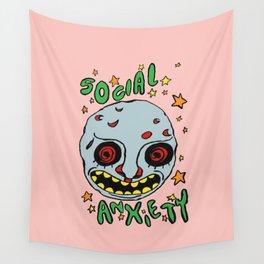 social anxiety Wall Tapestry