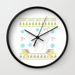 Pet Goat Christmas Ugly Sweater Design Shirt Wall Clock