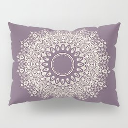 Mandala in Mulberry and White Pillow Sham