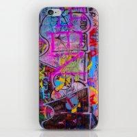 grafitti iPhone & iPod Skins featuring Bright Grafitti by davehare