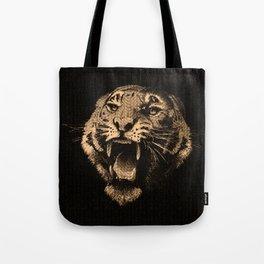 Vintage Tiger in black Tote Bag