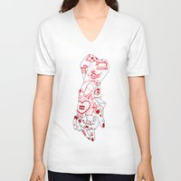 equality V-neck T-shirts featuring Equality  by scoobtoobins
