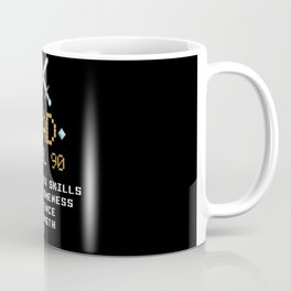 Dad Stats Pixel Arcade Game Character Coffee Mug