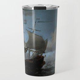 """Willem van de Velde """"The Dutch Fleet Assembling"""" Travel Mug"""