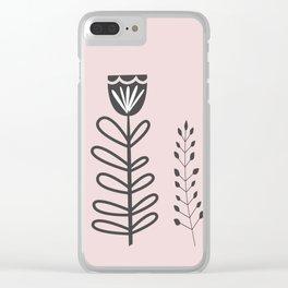 Garden Line Art Clear iPhone Case