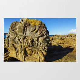 Rock Sculpture, Palm Beach Rug