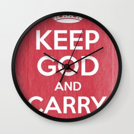 Keep God and Carry On - Red Book Wall Clock