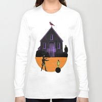 house Long Sleeve T-shirts featuring HOUSE by MAR AMADOR