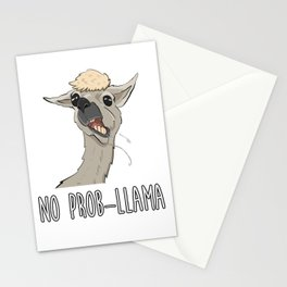No Prob LLama Stationery Cards