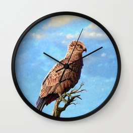 Brown Snake Eagle Wall Clock
