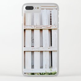 BUiLDiNG THE WHiTE PiCKET FENCE Clear iPhone Case