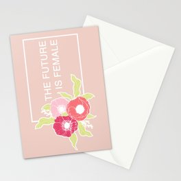 The Future Is Female #society6 #buyart Stationery Cards
