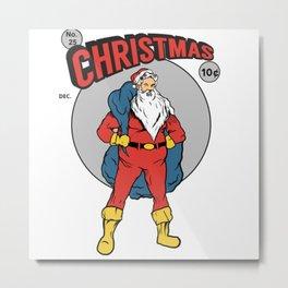 Christmas santa Metal Print
