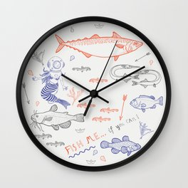 Fish me.... if you can! Wall Clock