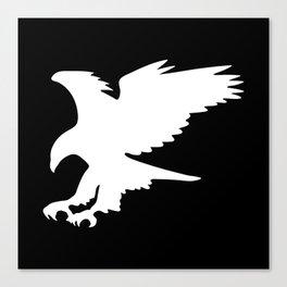 Majestic Eagle in Flight Silhouette Canvas Print