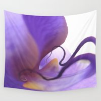 orchid Wall Tapestries featuring Orchid  by Lena Weiss