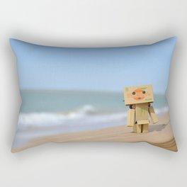 Danbo on the beach Rectangular Pillow