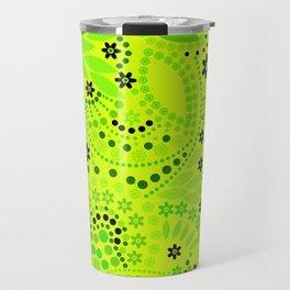 Green neon  , placer beads #neon #bright Travel Mug