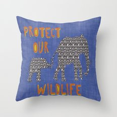 Protect Our Wildlife Throw Pillow