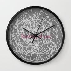 Concrete & Letters II Wall Clock