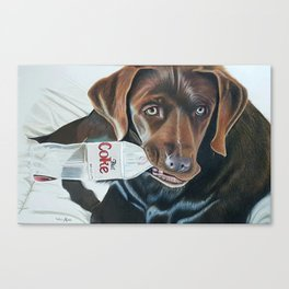 Sophie Could Use a Drink Canvas Print
