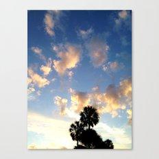 Palm Trees, Ocean Breeze Canvas Print
