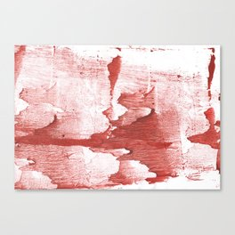 Indian red colored watercolor Canvas Print