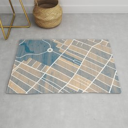 Jersey City Map Rug