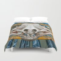 art history Duvet Covers featuring Natural History by Valerie Anderson Art