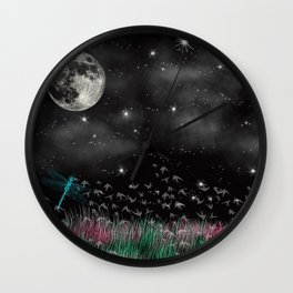 Night Critters Wall Clock