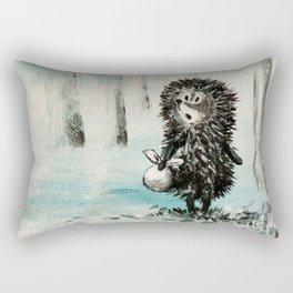 Hedgehog in the fog Rectangular Pillow