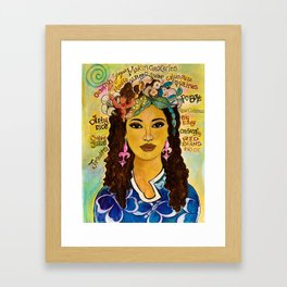 YaYa Framed Art Print