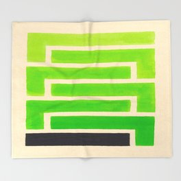 Lime Green Aztec Pattern Throw Blanket