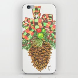 Holiday Pine Cone iPhone Skin