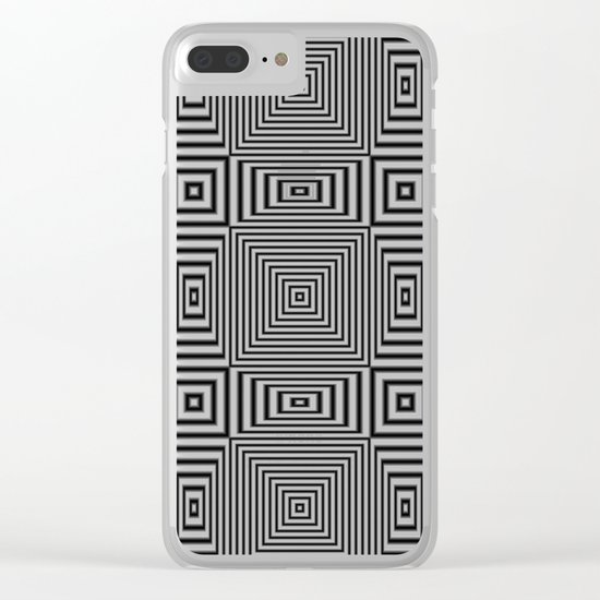 Flickering geometric optical illusion Clear iPhone Case
