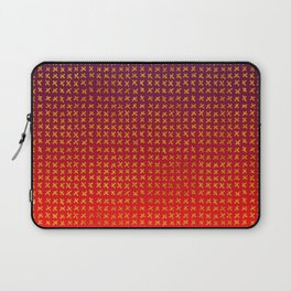 Red and violet ombre with X marks Laptop Sleeve