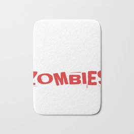 Running Training Zombie Fast Food Funny Gift Bath Mat