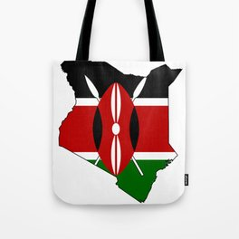 Kenya Map with Kenyan Flag Tote Bag