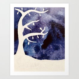 Midnight Tree Art Print