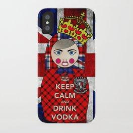 Keep Calm and Drink Vodka Matryoshka iPhone Case