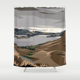 Cass Bay, New Zealand Shower Curtain