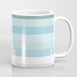 Color Block Stripe in Mint Blue Coffee Mug