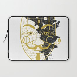 Cage Mask Anonymous Smile Mustache Laptop Sleeve