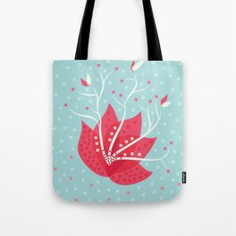 Exotic Winter Flower Tote Bag