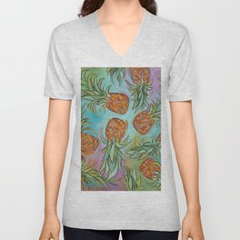 Dancing Pineapples Unisex V-Neck