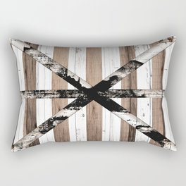Rustic Multi Wood Barn Door Rectangular Pillow