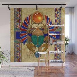 Sarcophagus 3d Egyptian Folk Art Wall Mural