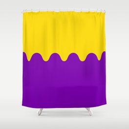 Wavy Intersexual Colors Shower Curtain